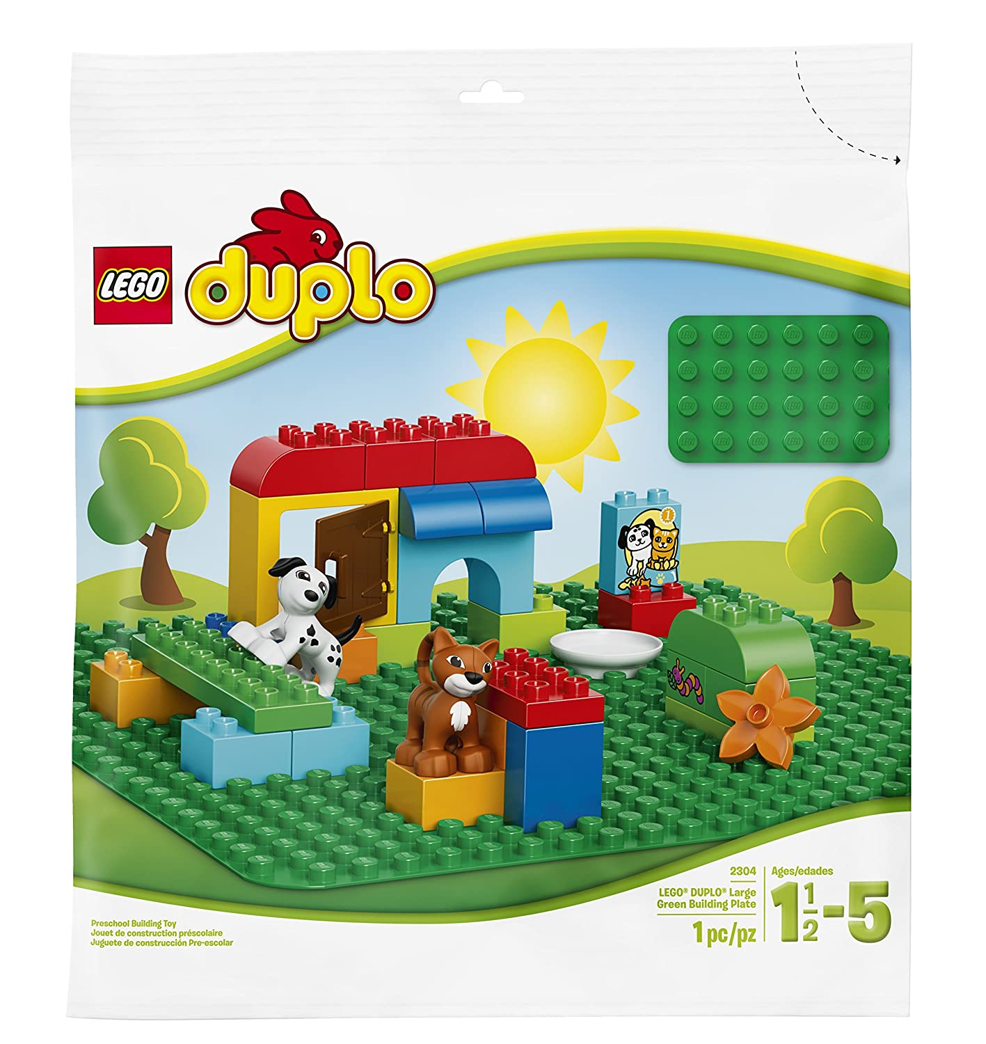 Amazon.com: LEGO Duplo My First Large Green Building Plate 2304 Building  Kit: Toys & Games