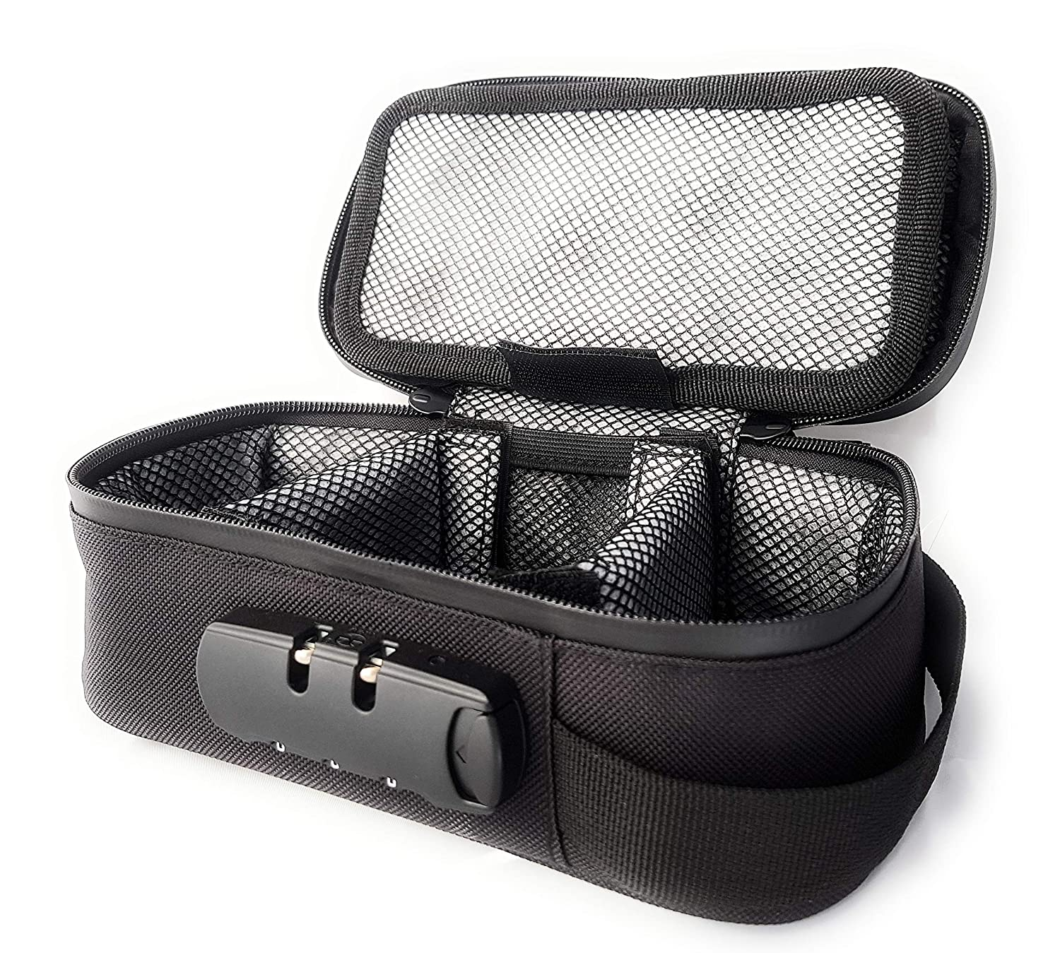 Discreetly Store All Your Smelly Smoking Accessories Safely Stashic Rolling Box Smell Proof Bag Lockable Case Stash Box Odor Absorbing Activated Carbon Lining Premium Lockable Case SH*