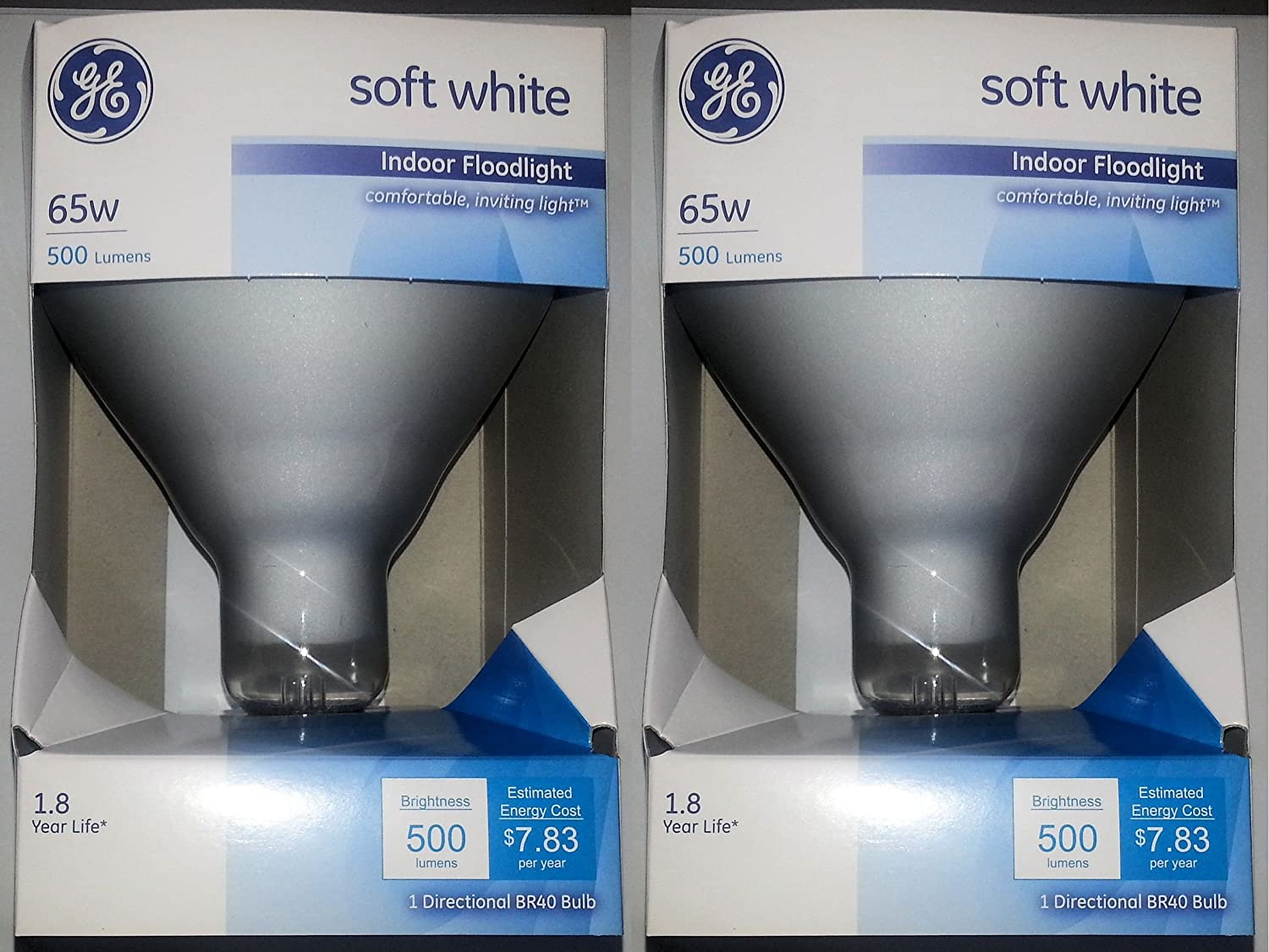 Ge 65 Watt Soft White Floodlight Br40 Light Bulb Pack Of