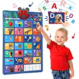 LEARNING BUGS Interactive ABC & 123s Talking Poster & Musical Wall Chart, Best Educational Toy for 2 Year olds and 3 Year old