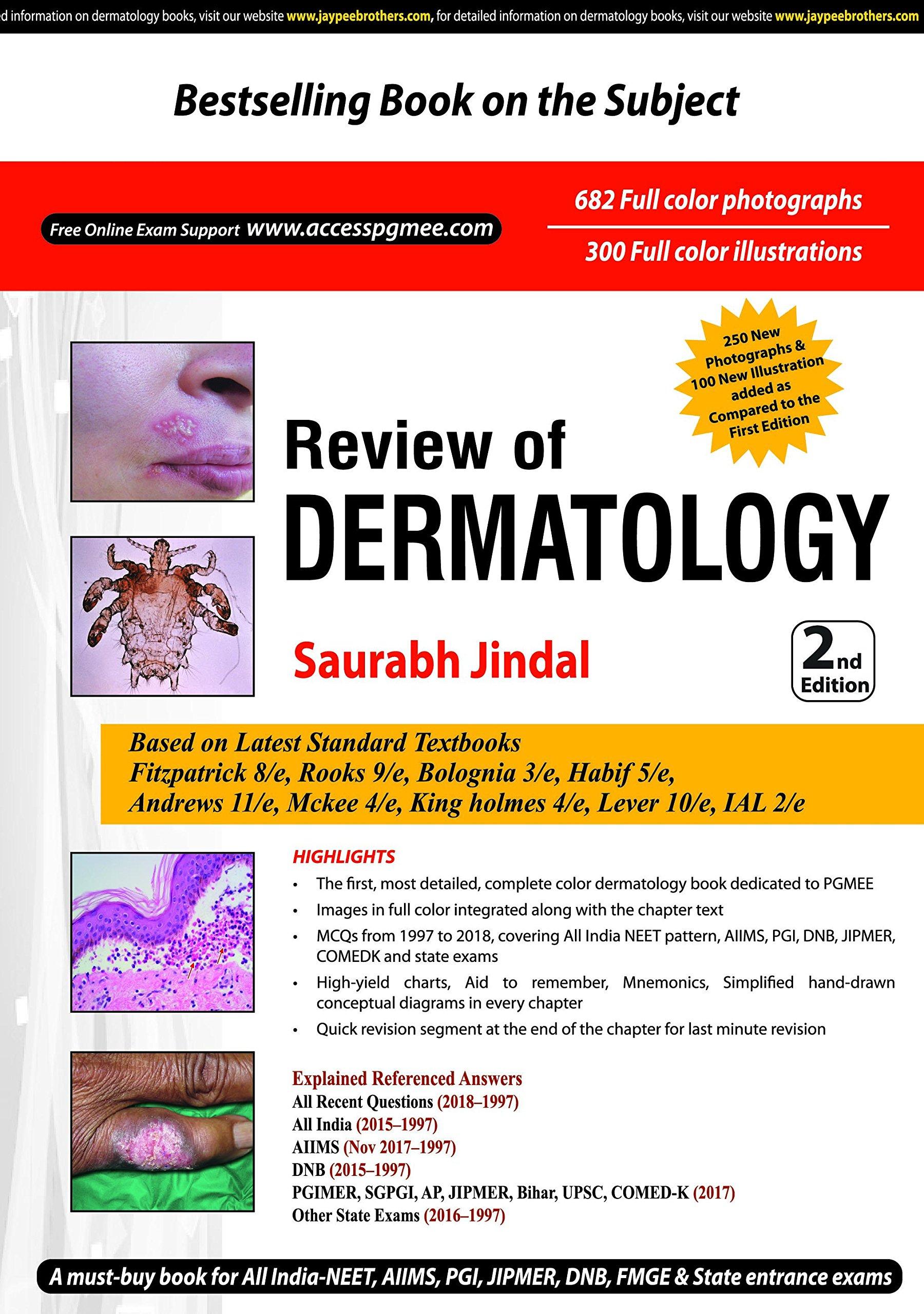 Buy Review of Dermatology: Dermatology Saurabh Jindal Book