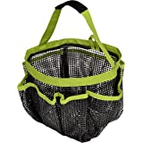 PRO-MART DAZZ Rubber Mesh Shower Tote Caddy, 8 Compartments, Green