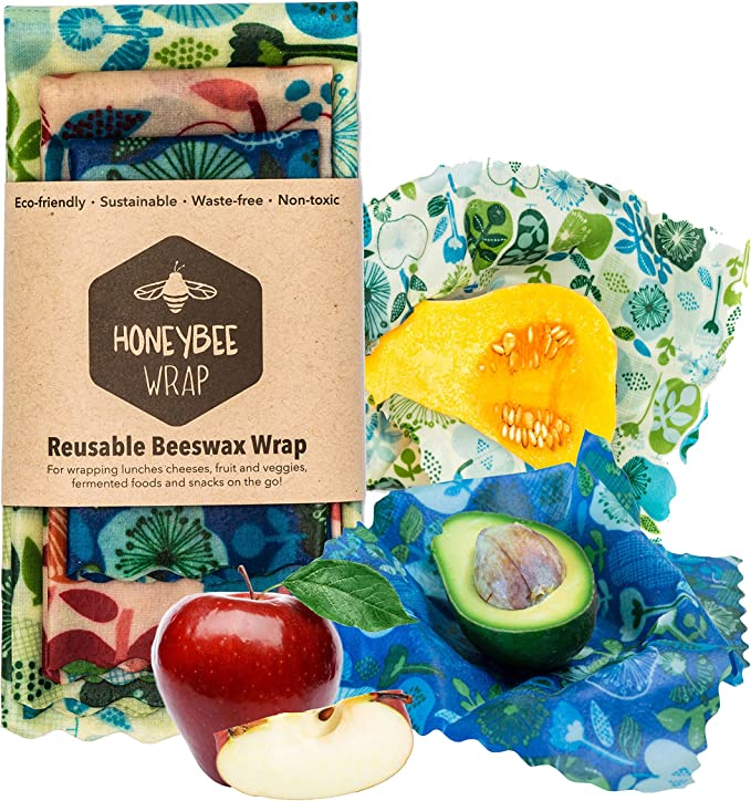 SET OF 6 REUSABLE WRAPS Made From Premium Quality Beeswax BeesWax Food Wraps
