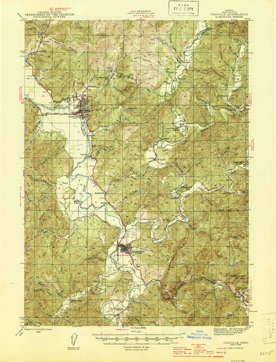Amazon.com: YellowMaps Coquille OR topo map, 1:62500 Scale ...