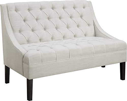 Pulaski Scoop Arm Button Tufted Settee Accent Chair