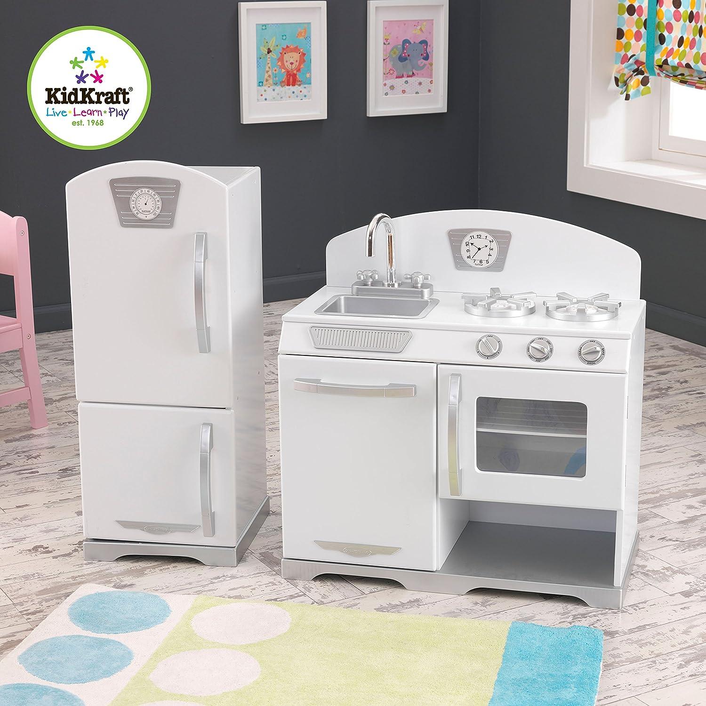 Kidcraft retro kitchen - Amazon Com Kidkraft Retro Kitchen And Refrigerator 2 Piece White Toys Games
