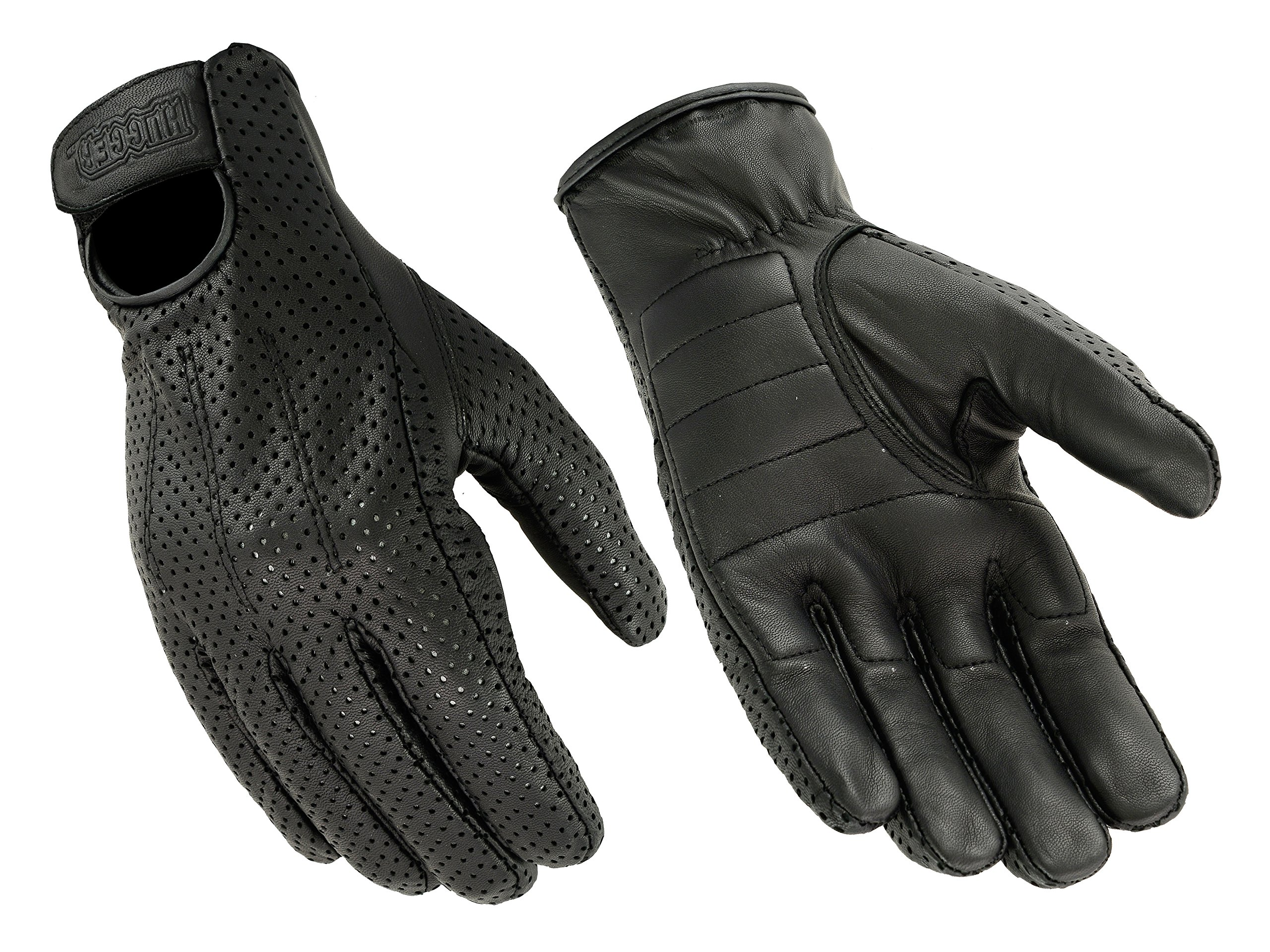 Hugger Men's Breathable Glove for Driving Motorcycles with Lightly Padded Palms 3X-Large Black