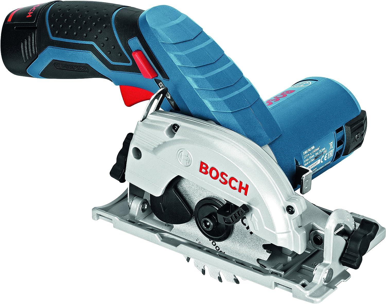 Bosch GKS 12V-26 Professional - Sierra circular a batería, 2 baterías 12 V 2.5 Ah, cargador rápido, adaptador para aspirador, L-BOXX 136 (12 V, velocidad de giro en vacío 1400 rpm): Amazon.es: Bricolaje y herramientas
