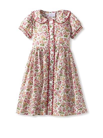 Rachel Riley Girl S Floral Button Front Dress Pink 4y Amazon In Clothing Accessories