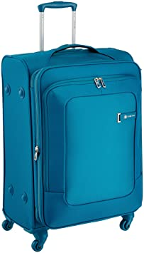 Carlton Polyester 59 cms Teal Soft Sided Suitcase (103J469930)