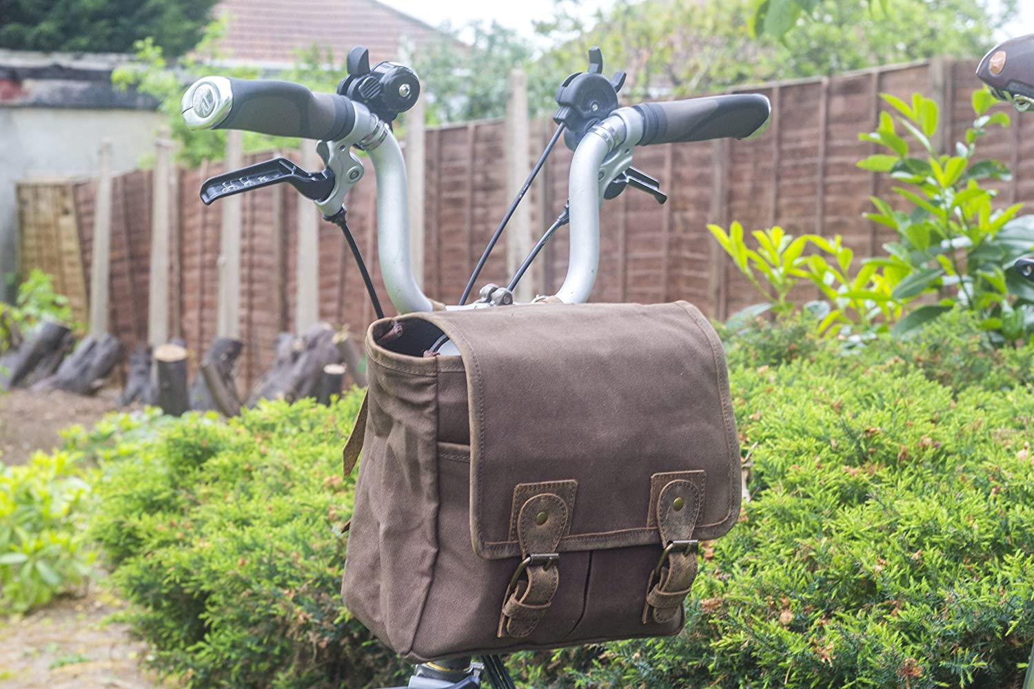 Leather GREEN BROMPTON Custom Handlebar For Handcrafted Waxed Canvas