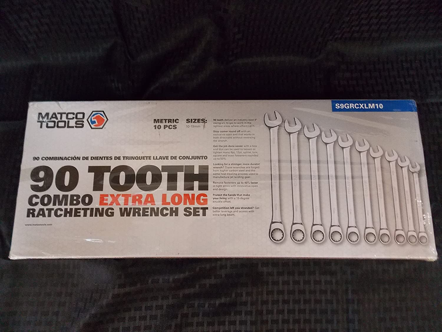 Matco Tools 10 Piece 90 Tooth Combo Extra Long Ratcheting