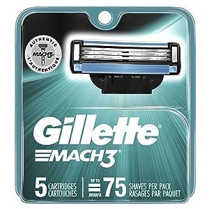 Gillette Mach3 Men's Razor Blades, 5 Blade Refills