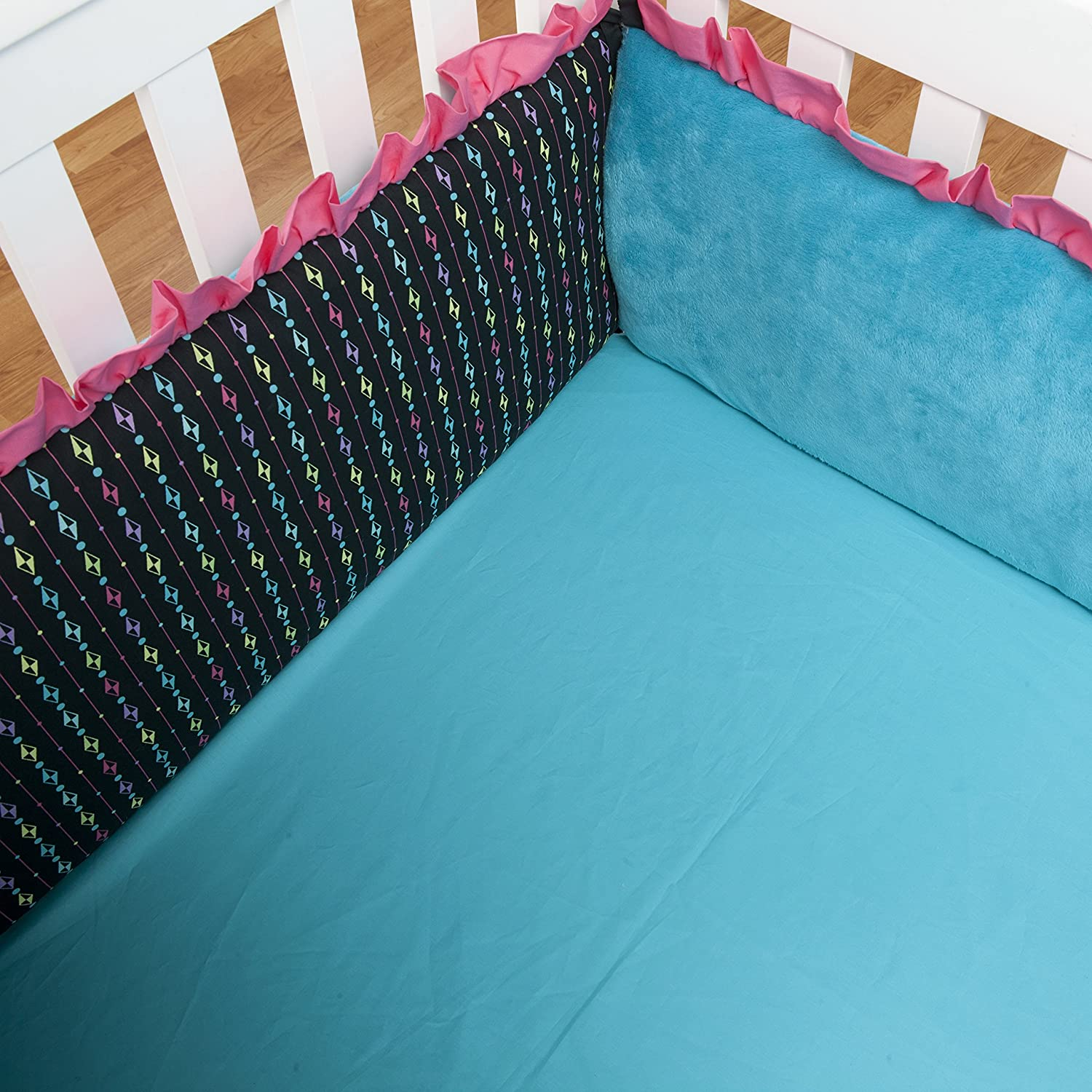 One Grace Place 10-24010 Magical Michayla-Crib Sheet Turquoise