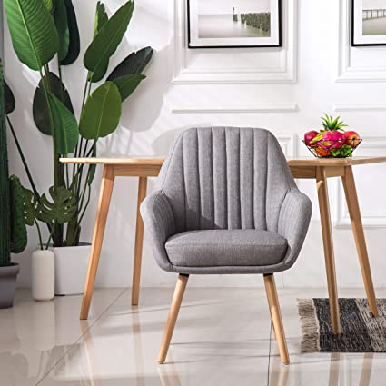 Amazon.com - Homy Grigio Dining Chairs Living Room Chairs Accent ...