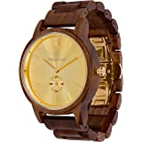 Wooden Watch for Men Maui Kool Kaanapali Collection Analog Large Face Wood Watch Bamboo Box