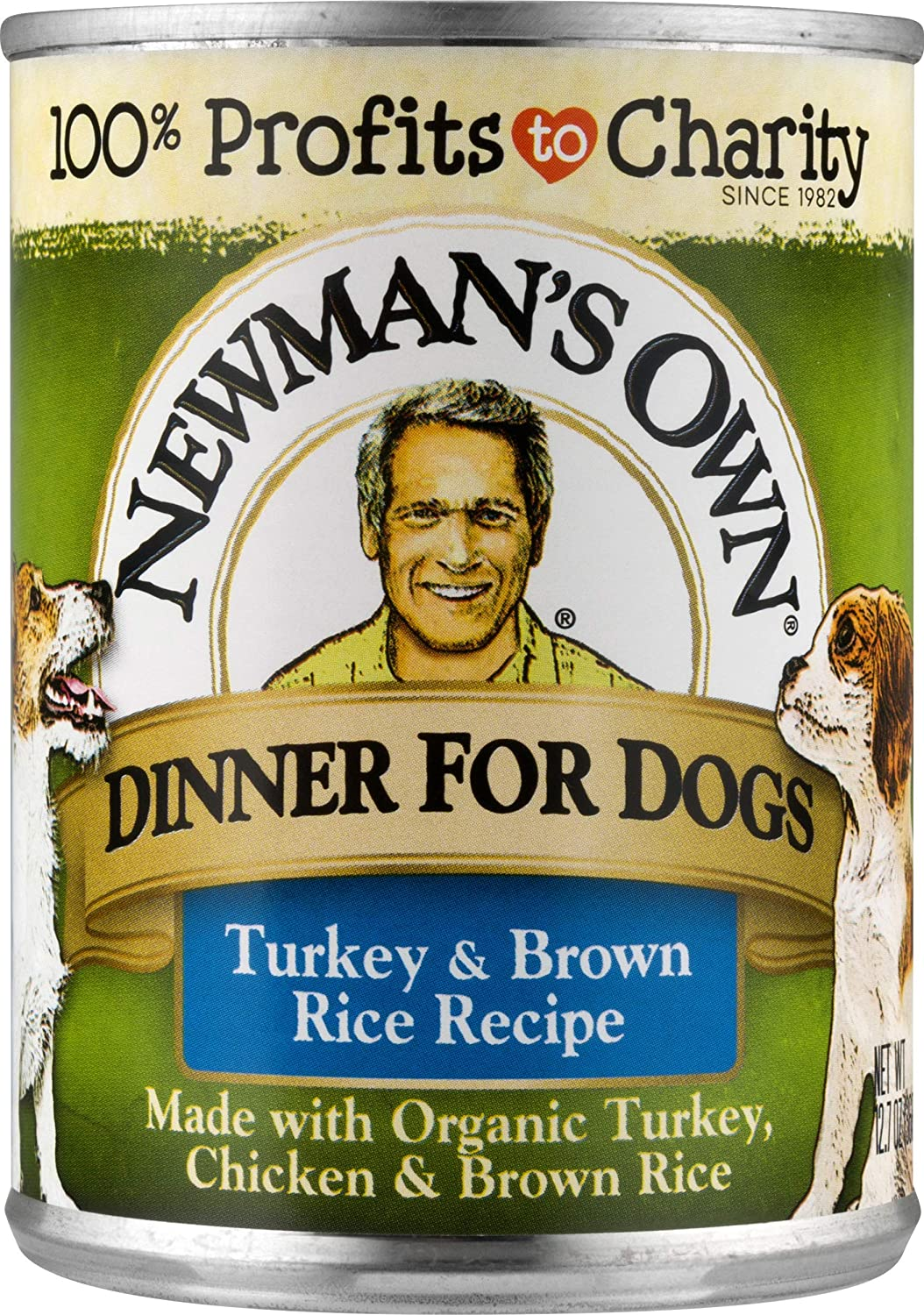 Newman's Own Turkey & Brown Rice Dinner For Dogs, 12.7-oz. (Pack of 12)