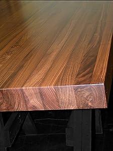 "Black Lake Wood Products Walnut Edge Grain Butcher Block Countertop, Island, Table Top, Bench. 72"" X 25"" X 1.25"""