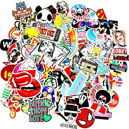 Laptop stickers 100 pcs by weebumz car stickers motorcycle bicycle luggage decal graffiti
