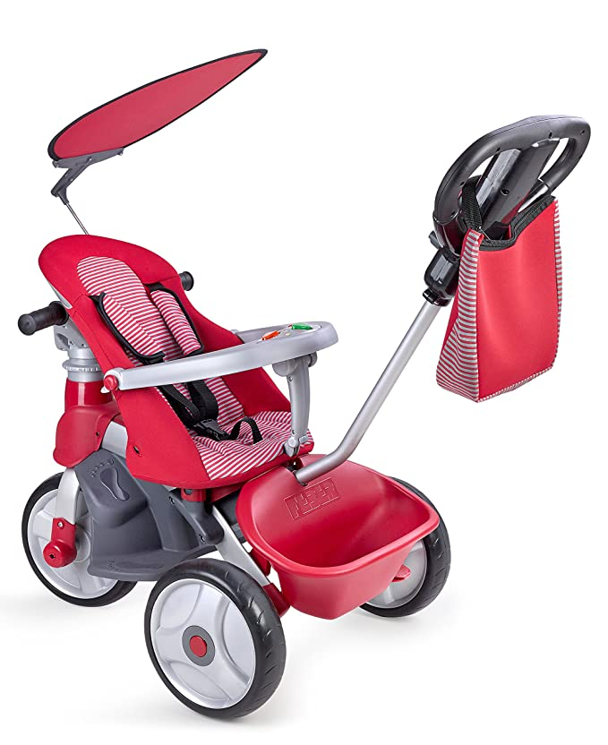 FEBER- Baby Trike Easy Evolution, Triciclo, Color Rojo, 24.9 x ...