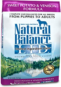 Natural Balance Dry Dog Food Diet Venison And Sweet Potato Recipe, 28 Lb.
