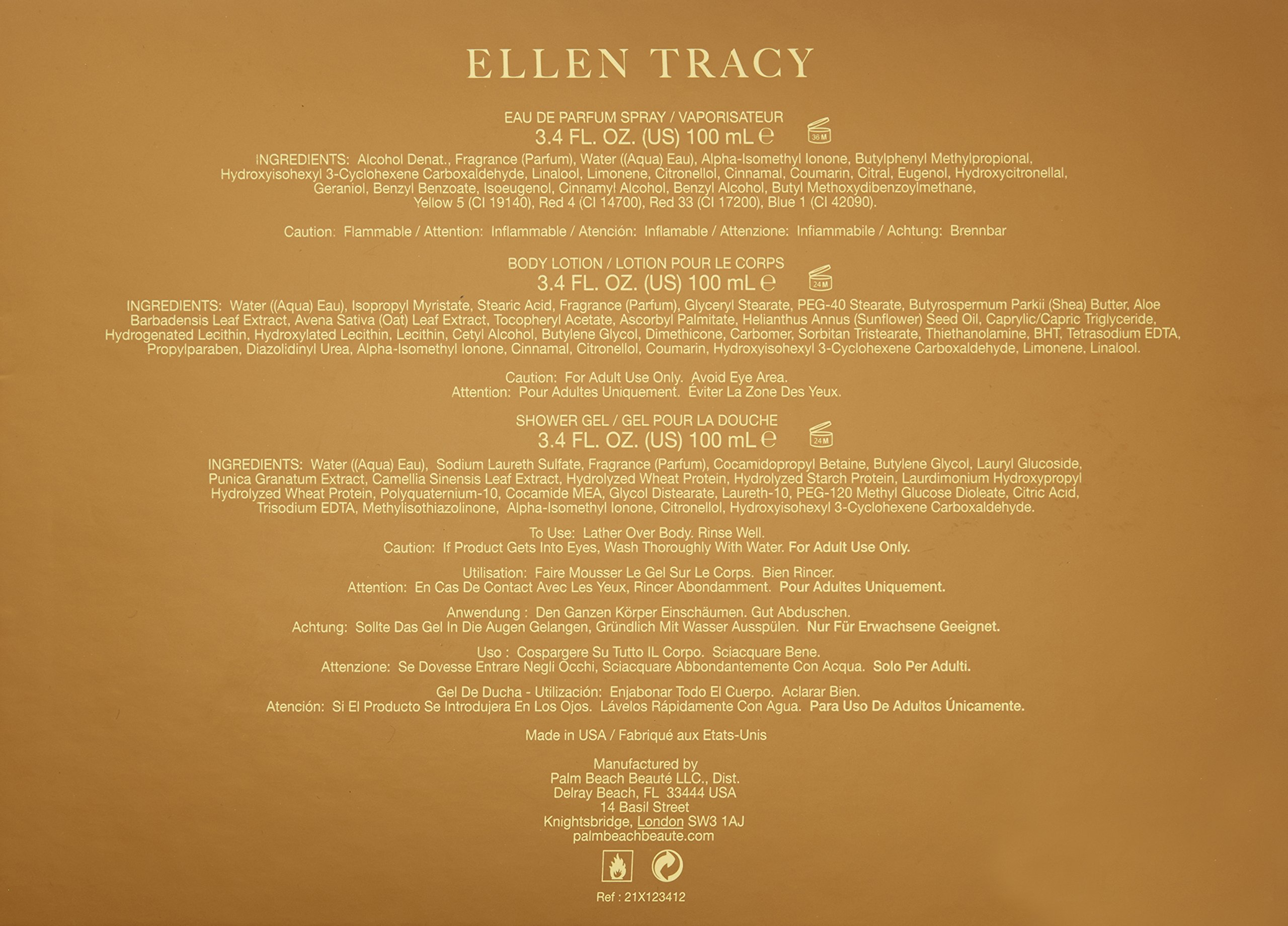 Ellen Tracy Gift Set Perfume for Women, 3 Count by Ellen Tracy (Image #2)