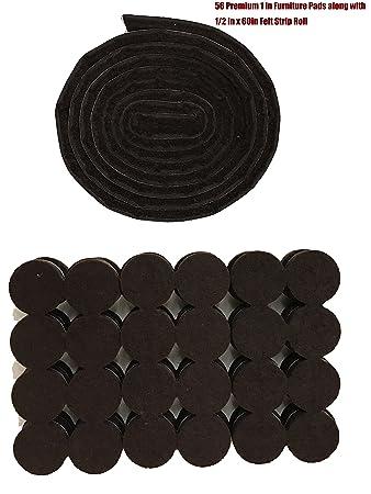 56 Pack Premium Linkw Heavy Duty Selbstklebend 2,5 Cm Braun Möbel Pads U0026amp;