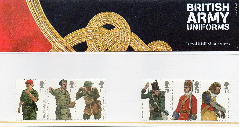 British Army Uniform Royal Mail Mint Stamps Presentation ...