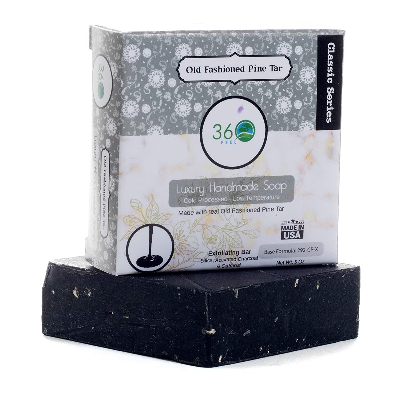 Tar antibacterial soap handmade gift for him Home & Kitchen