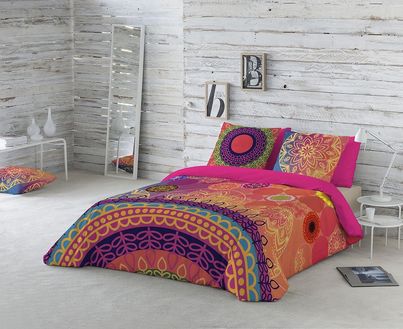 Naturals Funda nórdica Yasin, cama de 150 cm, multicolor