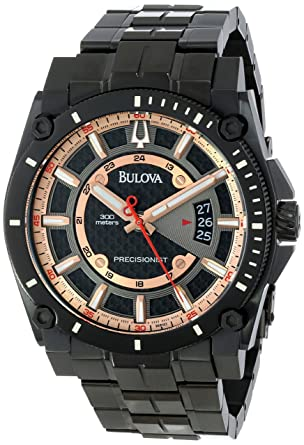 9c04d101540 Image Unavailable. Image not available for. Color  Bulova Men s 98B143 Precisionist  Charcoal Grey Dial Bracelet Watch