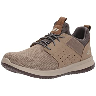 Skechers Men's Classic Fit-Delson-Camden Sneaker,taupe,10.5 M US