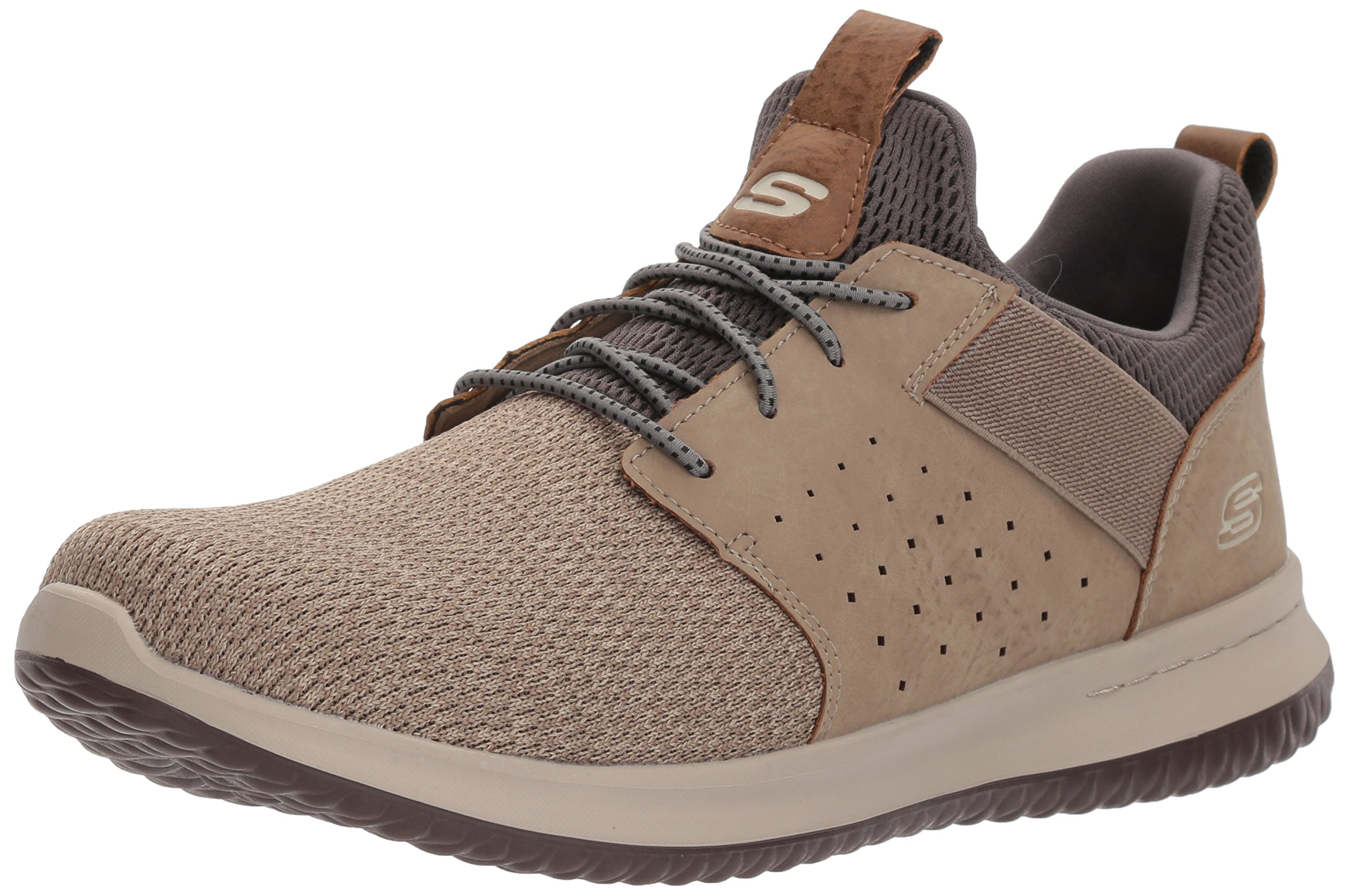 Skechers Men's Classic Fit-Delson-Camden Sneaker,Taupe,13 Wide US