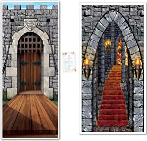 Two Medieval Castle Door Covers for Classrooms, Parties, and Events (with Party Planning Checklist)