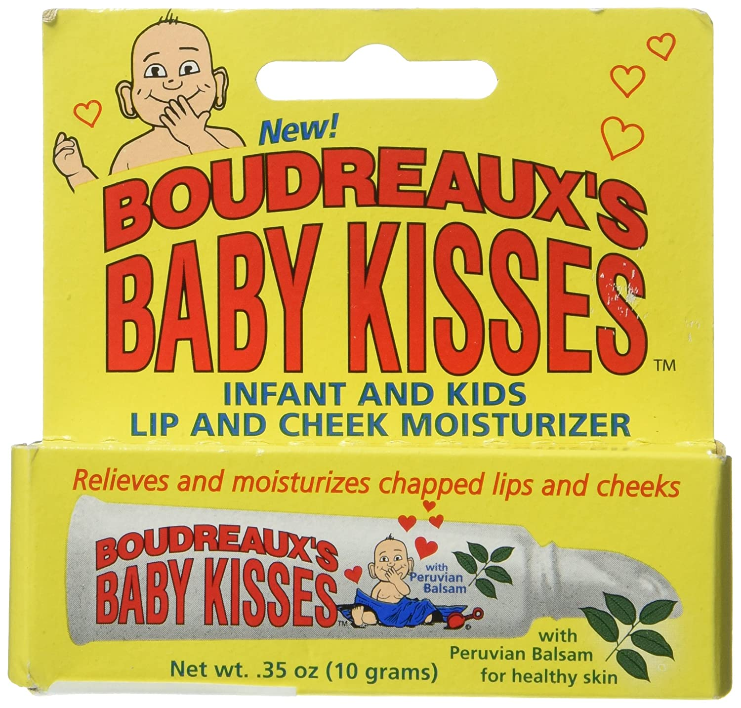 Boudreaux's Baby Kisses Lip & Cheek Moisturizer, 0.35 Ounce (Pack of 6) Boudreaux's Butt Paste -4047