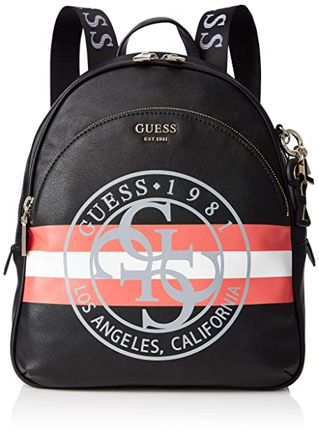 Guess - Detail Large Backpack, Mujer, Multicolor (Black Multi), 28x34x12 cm (W x H L): Amazon.es: Zapatos y complementos