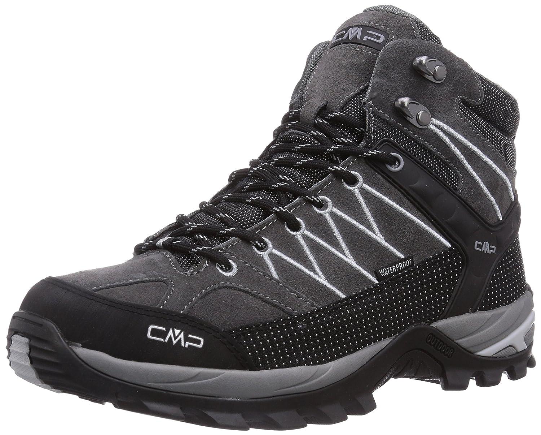 CMP Rigel - Zapatillas de Trekking y Senderismo de Cuero Hombre 47 EU|Gris - Grau (Grey U862)