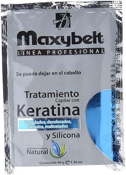 Maxybelt Tratamiento Queratina y Silicona - 24 Bolsitas x 40 ml