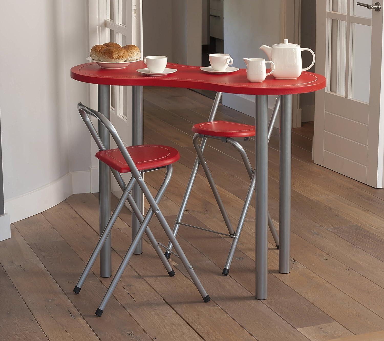 Amazon.de: Küchenbar Küchentisch Tisch Küche mit 2 Stühlen ...