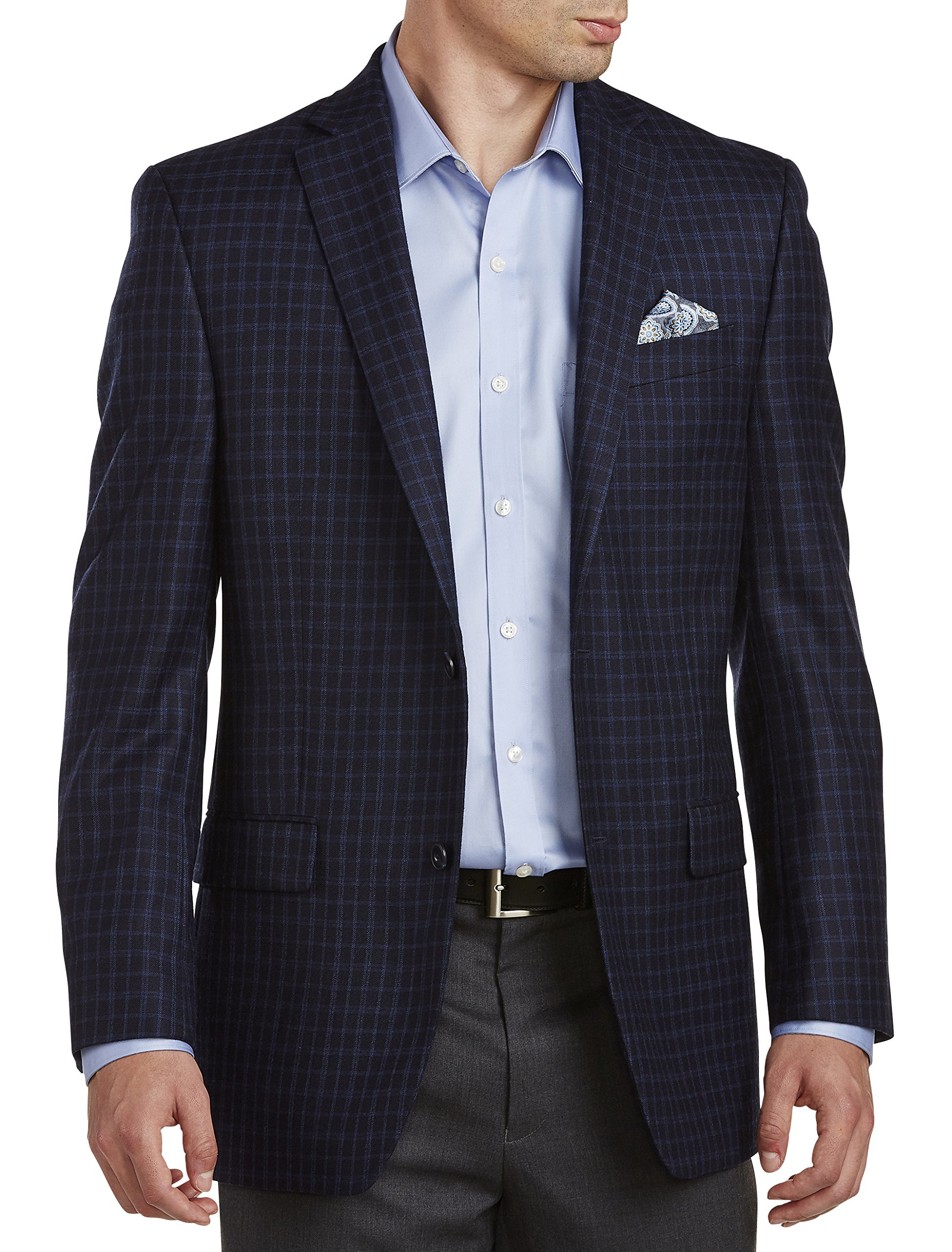 Michael Kors Big and Tall Mini Box Pattern Sport Coat