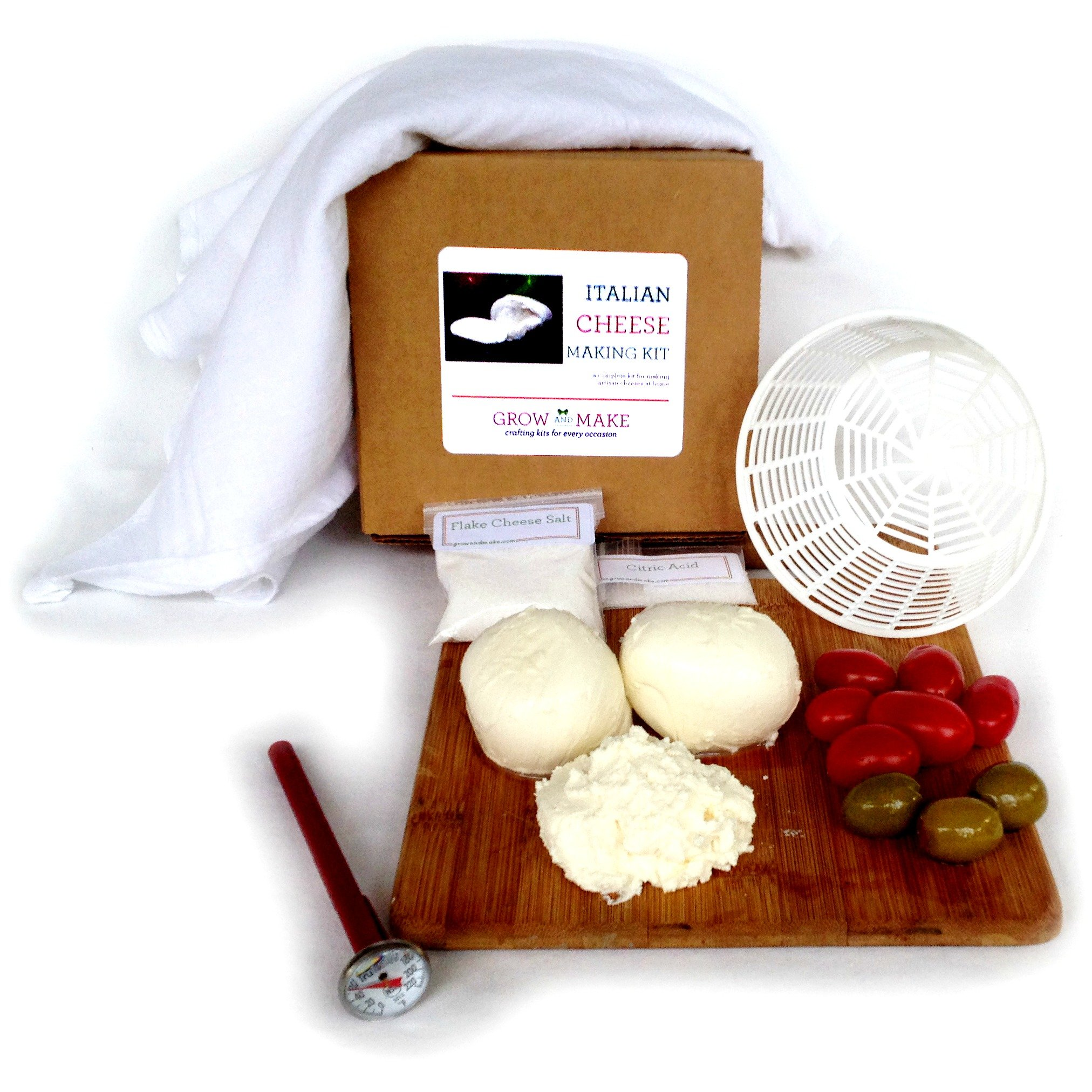 DIY Italian Cheese Making Kit - Learn how to make home made mozzarella and ricotta cheeses