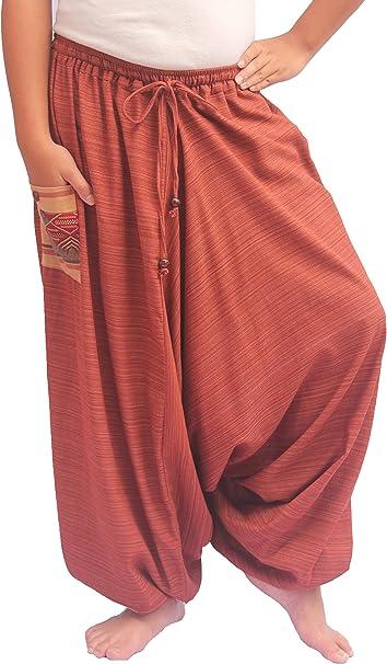 TheHaremShop Cotton Plus Size Yoga Boho Hippie Wide Leg Harem Pants