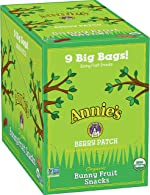 Annie's Organic Bunny Berry Patch Fruit Snacks, 9 Pouches