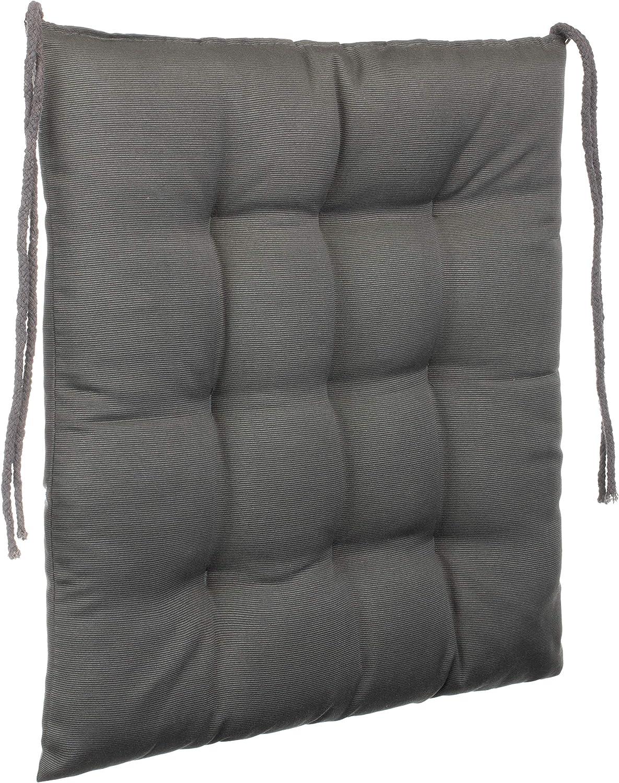 9 trapuntature Cuscino decorativo per sedia grigio scuro Brandsseller in diversi motivi 4er-Paket Poliestere