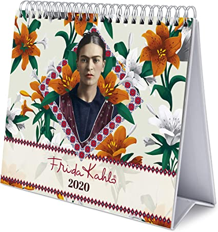 17 x 20 cm Calendrier de Bureau 2020 Frida Kahlo Erik