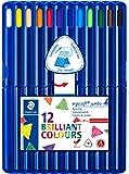 ステッドラー 色鉛筆 エルゴソフト 太軸 三角軸 12色 158 SB12
