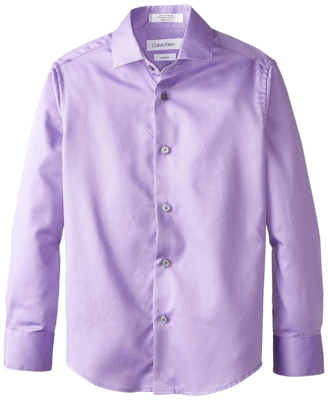 Calvin Klein Big Boys' CK Sateen Hanging Dress Shirt K871033