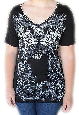 : Vocal Apparel Women's Tee Shirt Black: Clothing