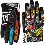 O'Neal - 0385-130 Jump Gloves with Crank Graphic (Black/Multicolor, Size 10)