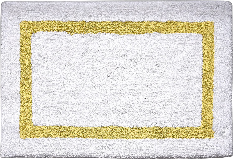 Charcoal Idea Nuova Border Bath Rug